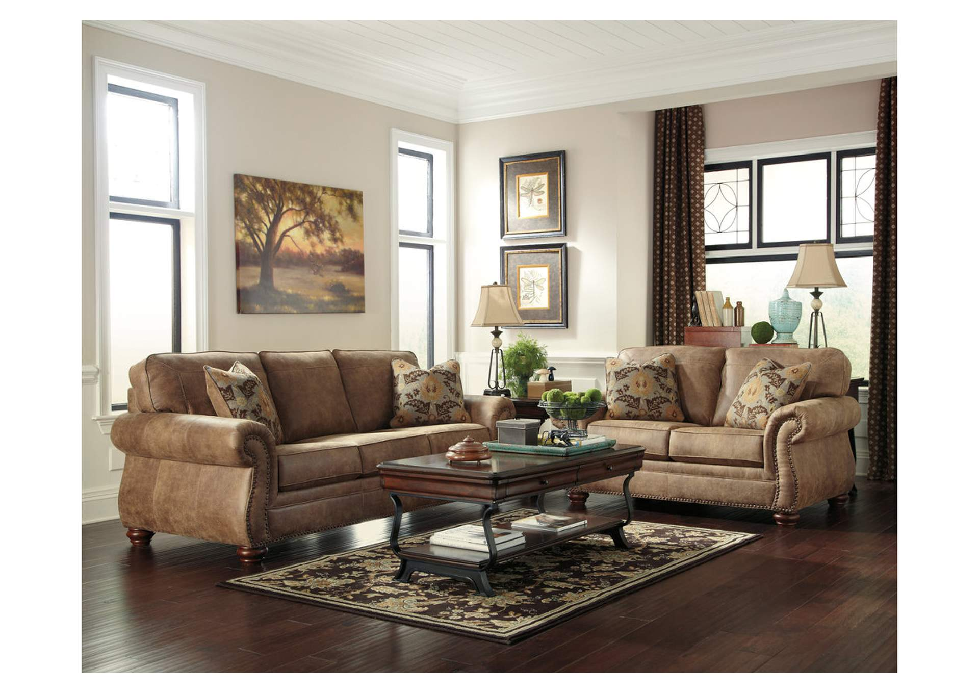 Living Room Best Sellers Larkinhurst Earth Sofa Loveseat