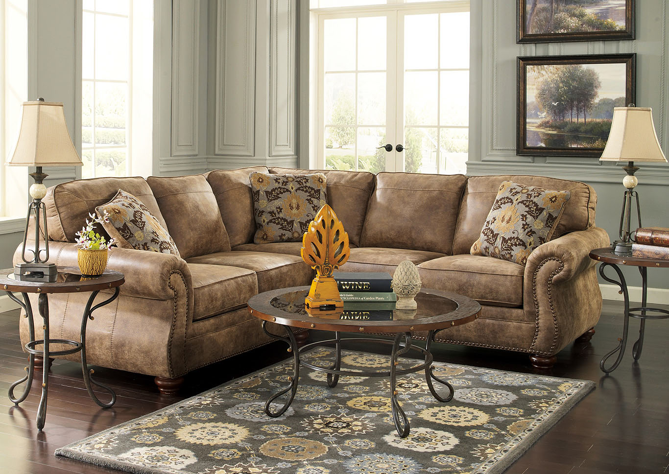 Larkinhurst Earth Sectional,Signature Design by Ashley