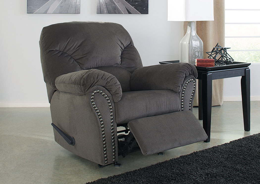 Kinlock Charcoal Rocker Recliner,Signature Design By Ashley