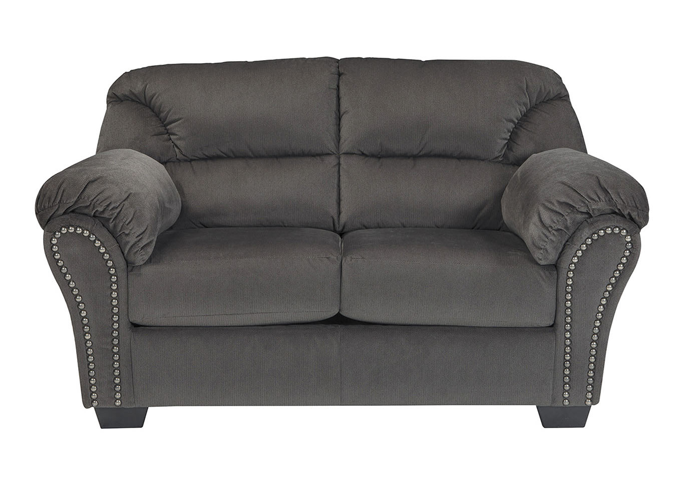 Roses Flooring And Furniture Kinlock Charcoal Loveseat