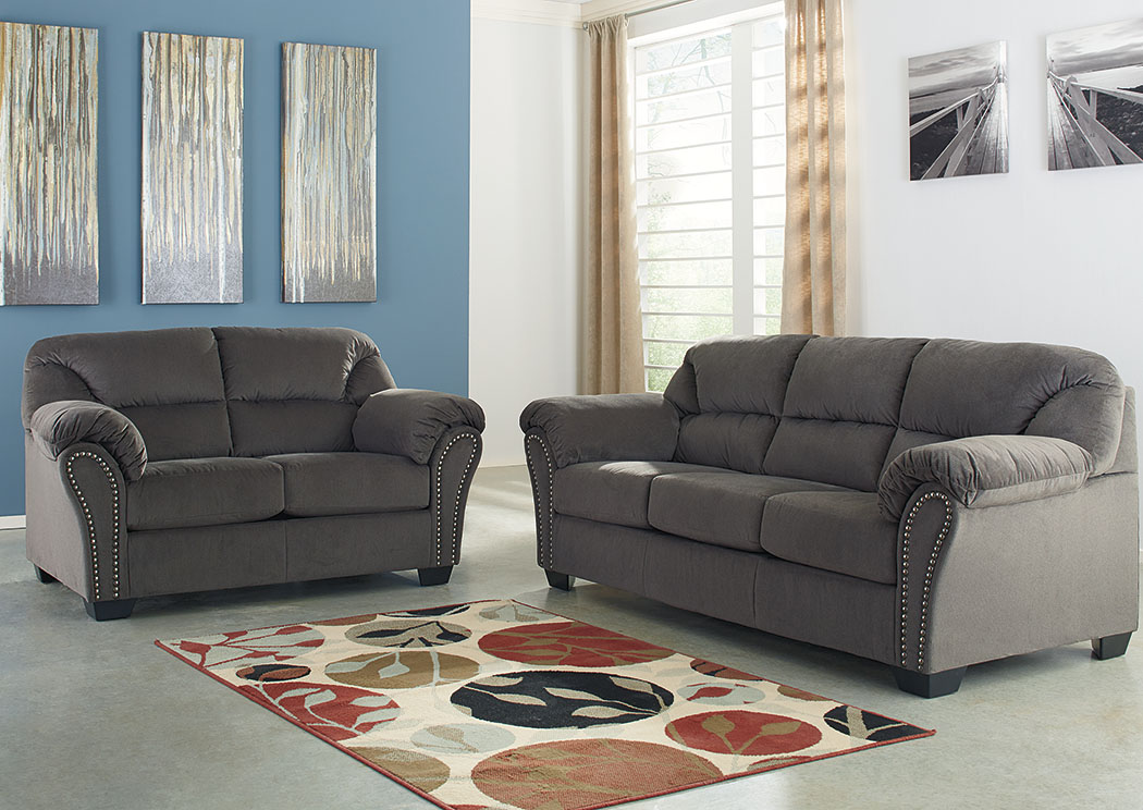 Roses Flooring And Furniture Kinlock Charcoal Sofa And Loveseat