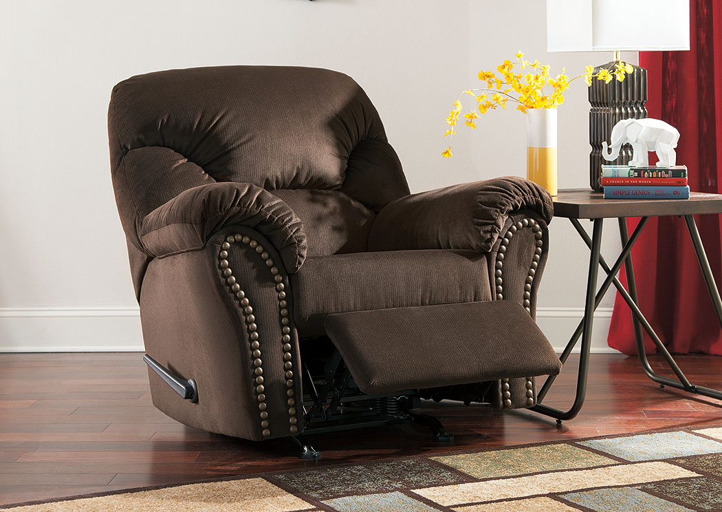 Kinlock Chocolate Rocker Recliner,Signature Design by Ashley