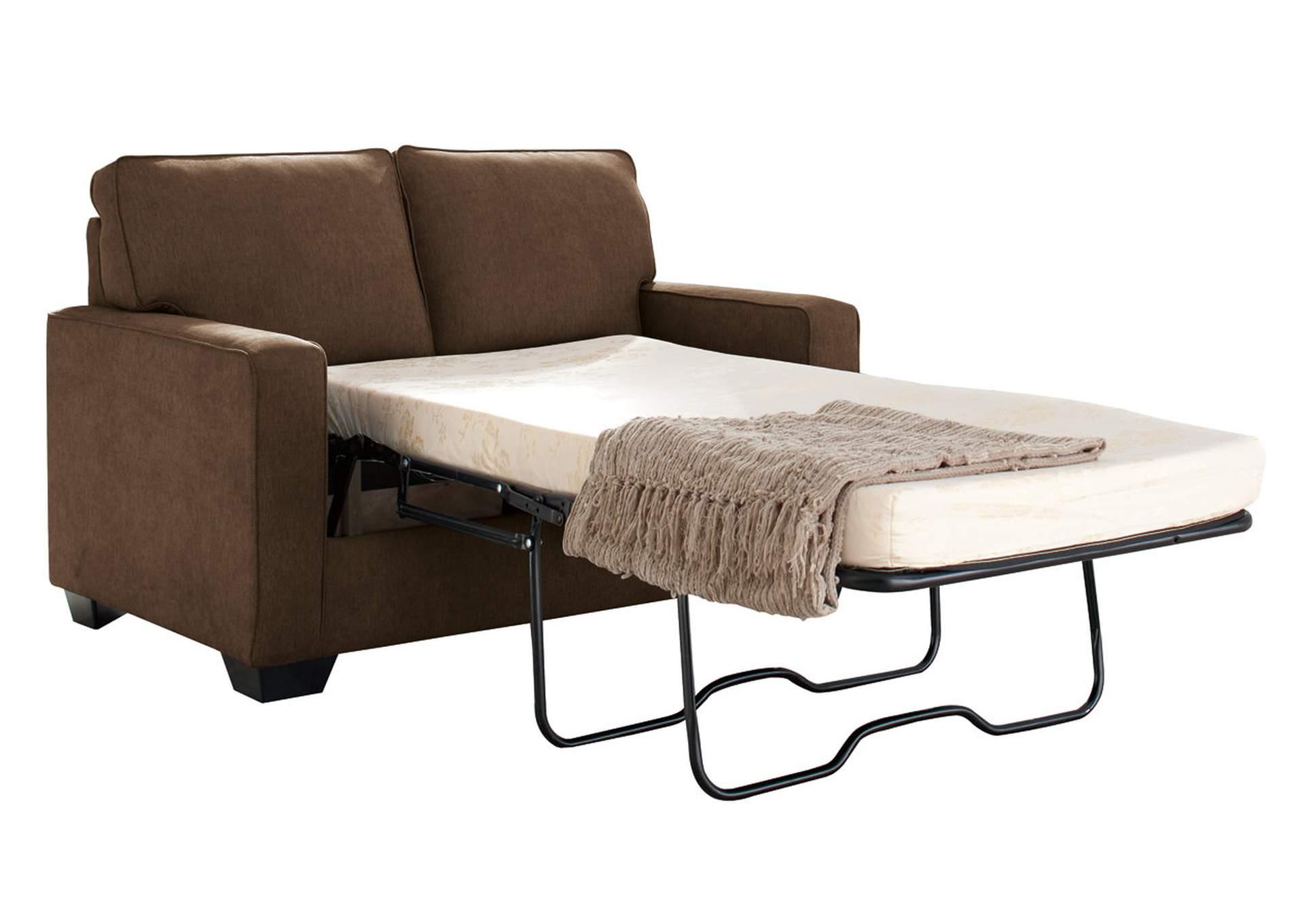 Curly s Furniture Zeb Espresso Twin Sofa Sleeper