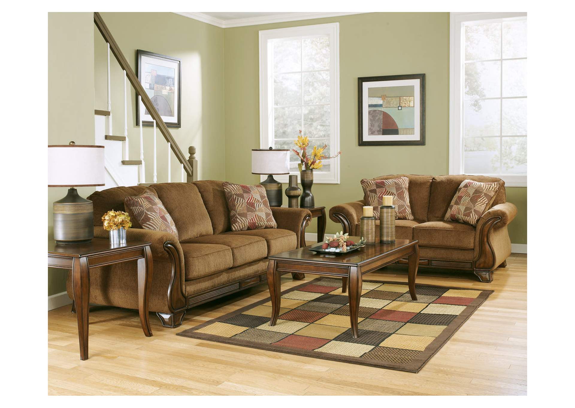 Montgomery Mocha Sofa & Loveseat,Signature Design by Ashley