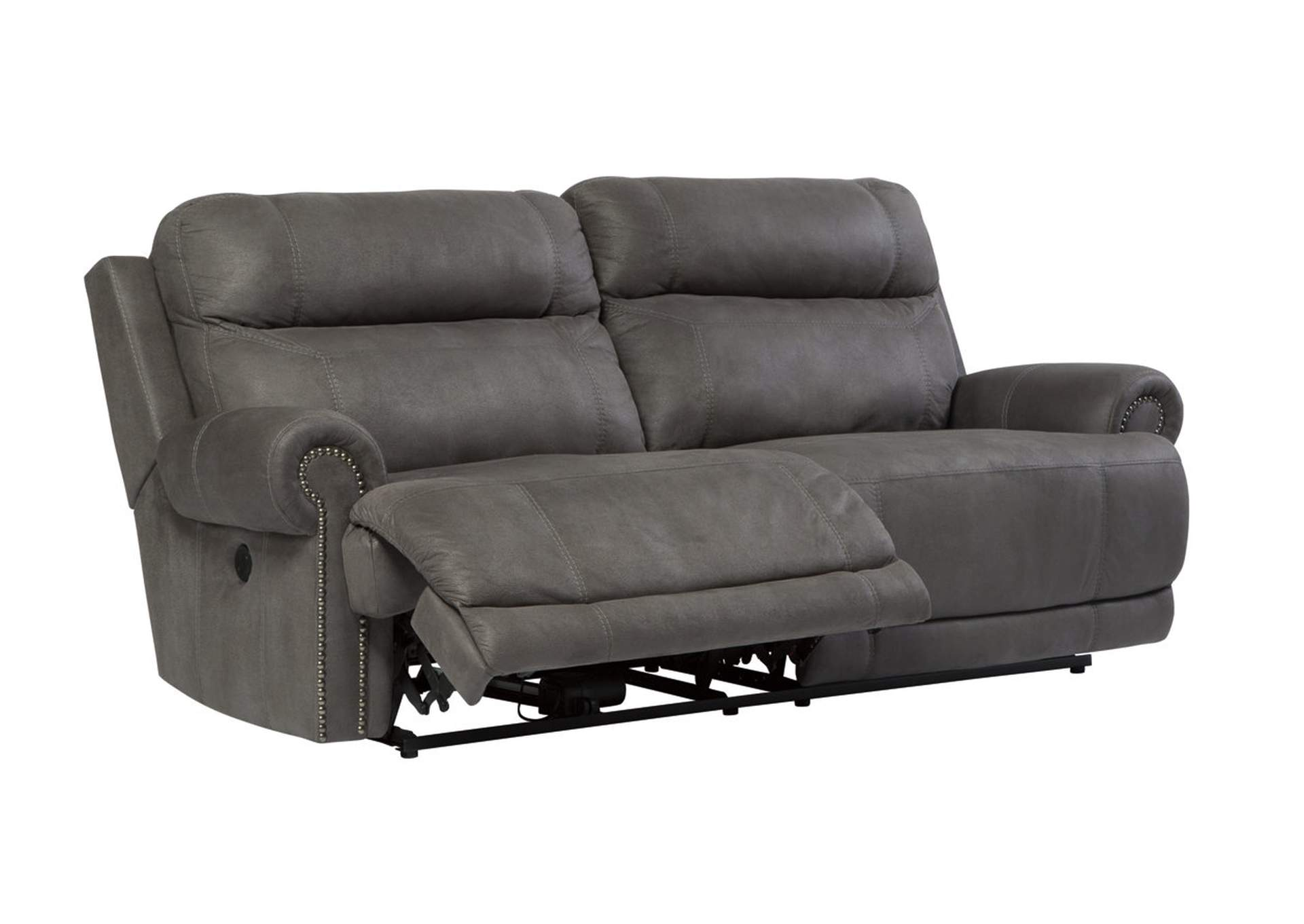 Austere Gray 2 Seat Power Reclining Sofa,Signature Design By Ashley