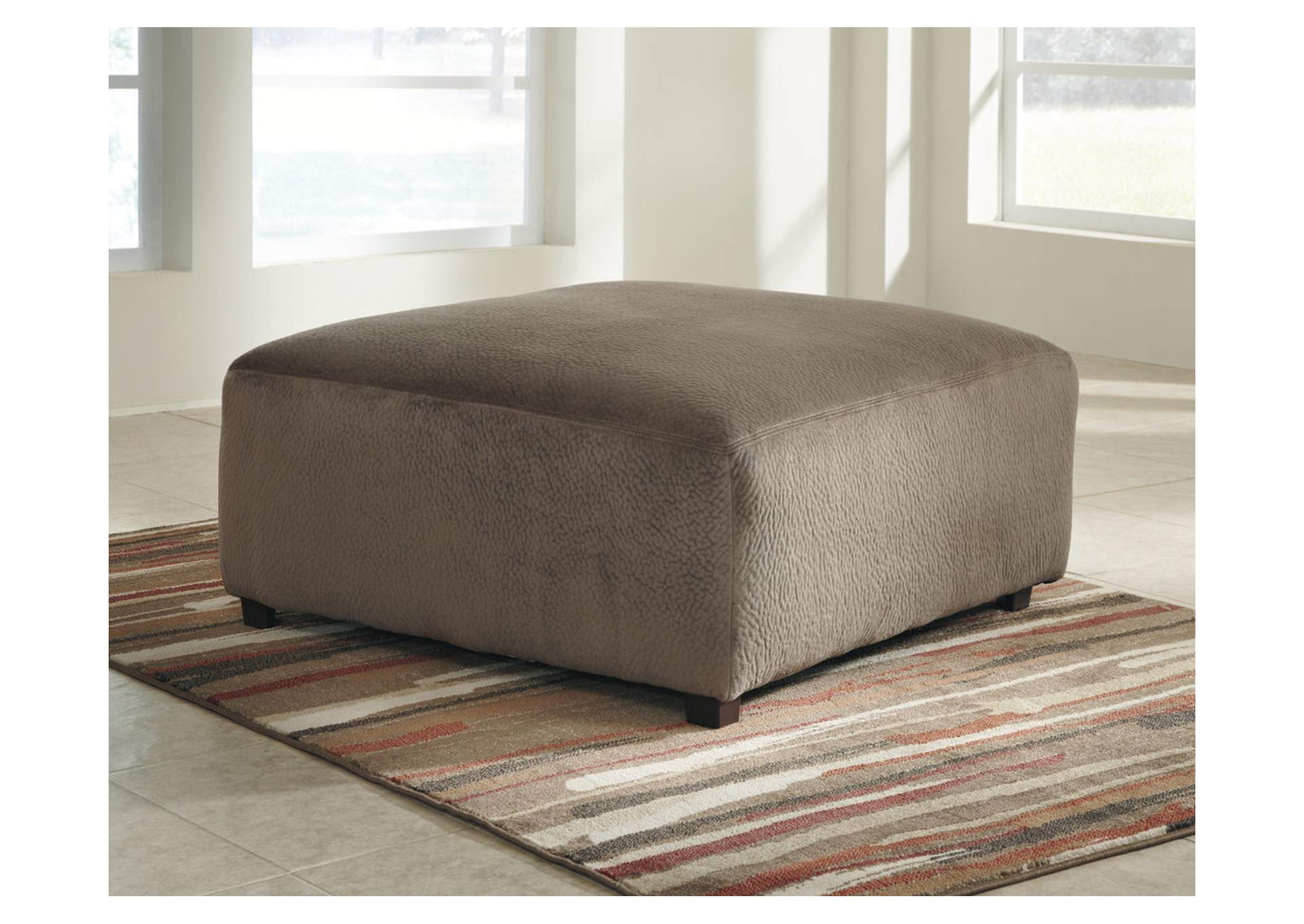 Jessa Place Dune Oversized Accent Ottoman,Signature Design by Ashley