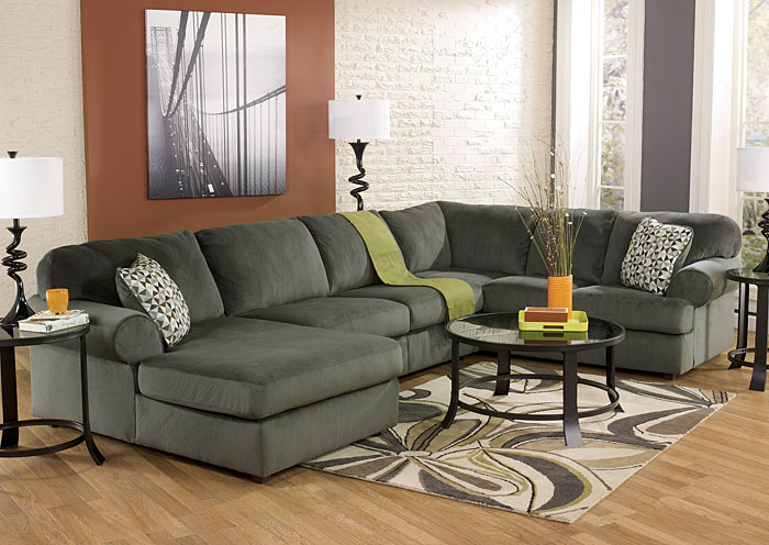 Jessa Place Pewter Left Facing Chaise Sectional,Signature Design by Ashley