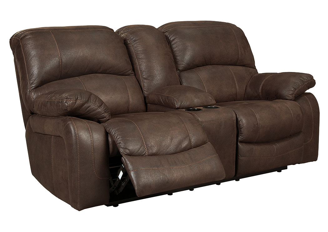 Zavier Truffle Glider Power Reclining Loveseat w/Console,Signature Design By Ashley
