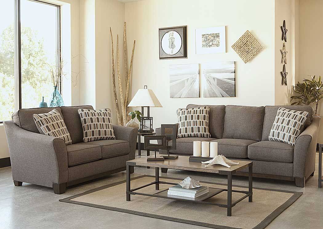 Living Room. Lifestyle Furniture Home Store Janley Slate Sofa   Loveseat