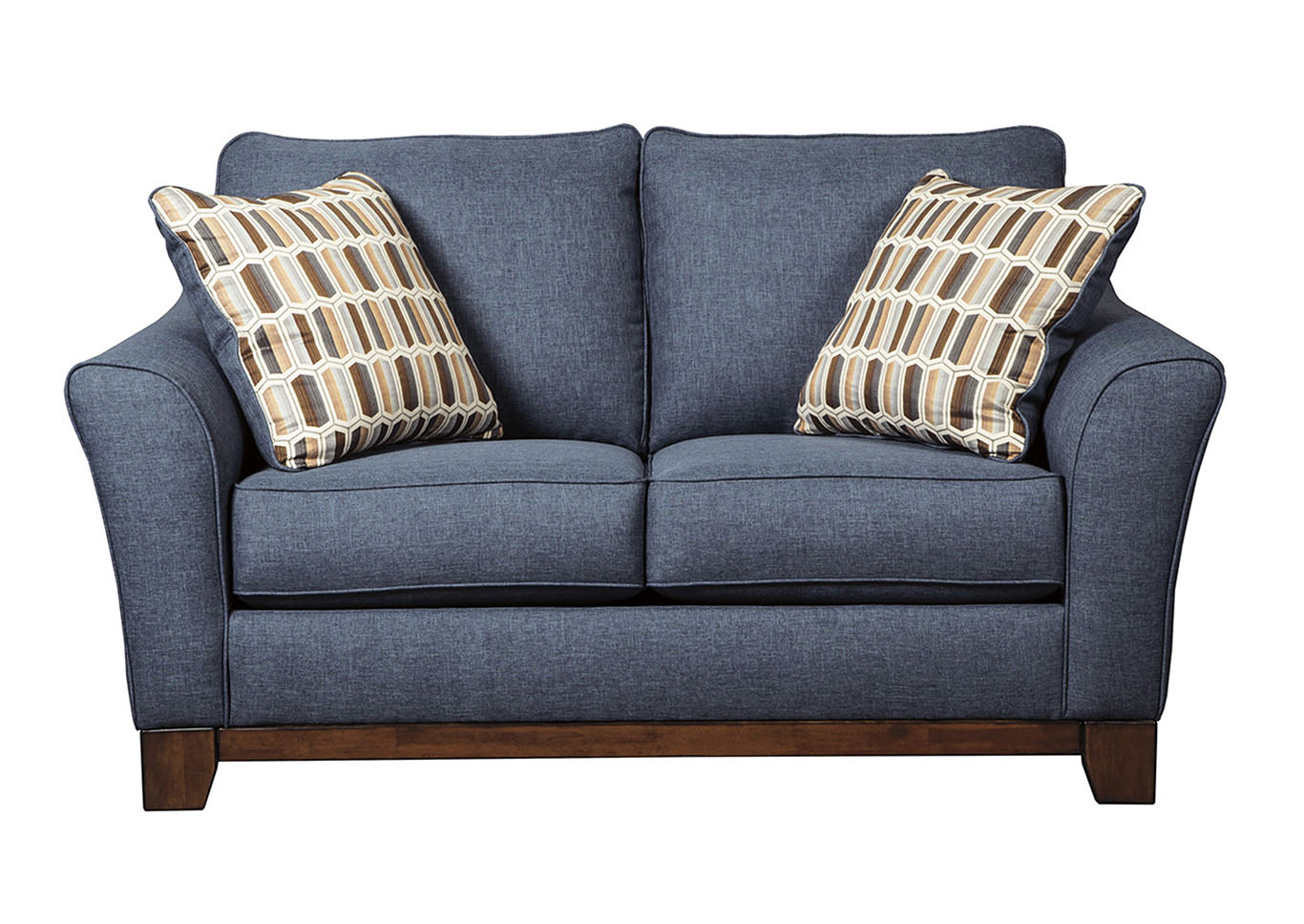 home furniture benchcraft living room janley denim loveseat