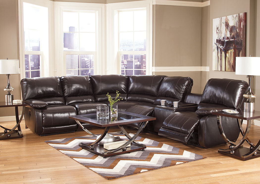 Capote DuraBlend Chocolate Right Facing Reclining Power Sectional,Signature Design by Ashley