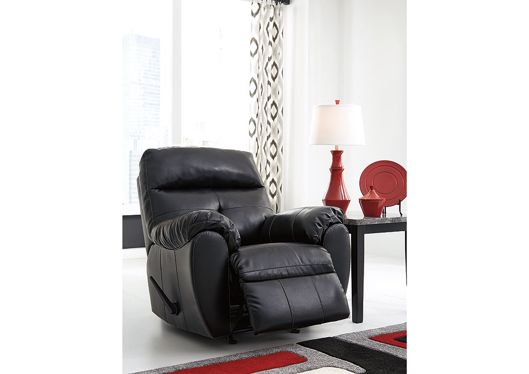 Bastrop DuraBlend Midnight Rocker Recliner,Benchcraft