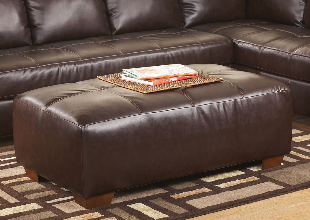 DuraBlend Mahogany Oversized Accent Ottoman,Signature Design by Ashley