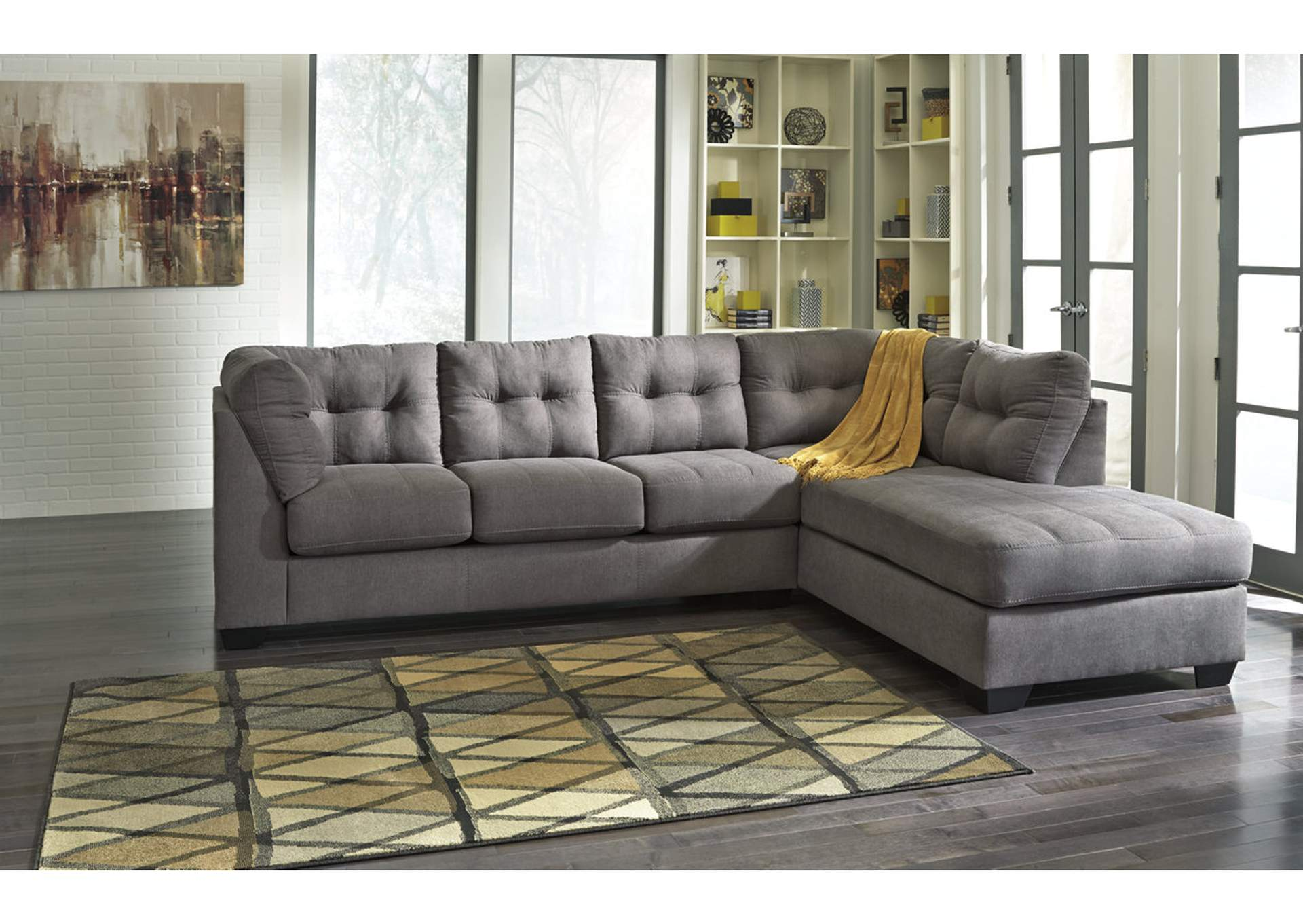 National Furniture Outlet Westwego Model National Furniture Outlet  Westwego La Maier Charcoal Right Arm .