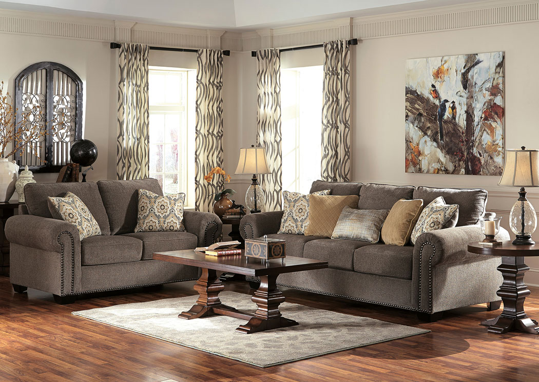 Foothills Family Furniture Emelen Alloy Sofa & Loveseat