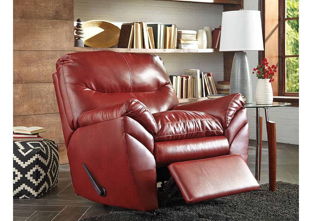 Tassler DuraBlend Crimson Rocker Recliner,Signature Design by Ashley