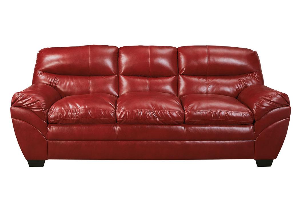 Gibson Mcdonald Furniture Tassler Durablend Crimson Sofa
