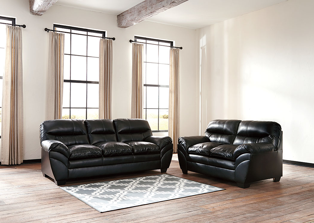 Adams furniture and appliance tassler durablend black sofa for Durable living room furniture