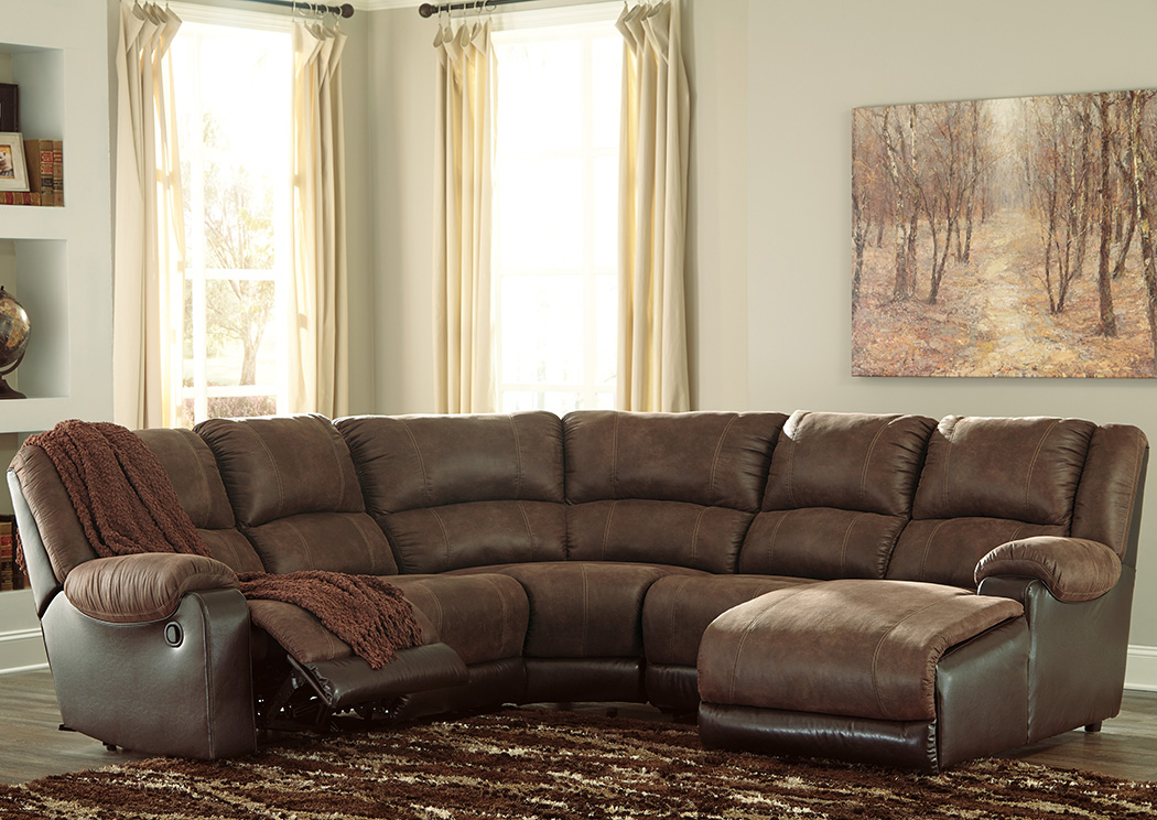 Nantahala Coffee Right Facing Corner Chaise Sectional,Signature Design By Ashley