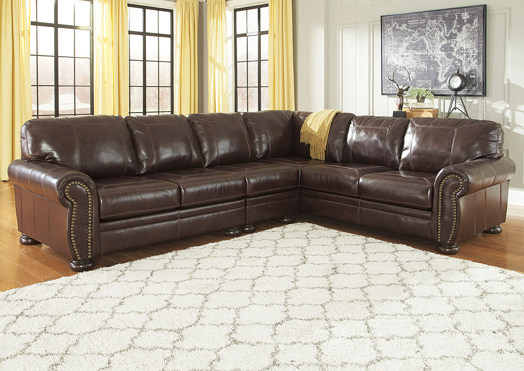 Banner Coffee Extended Right Facing Sofa Sectional,Signature Design by Ashley