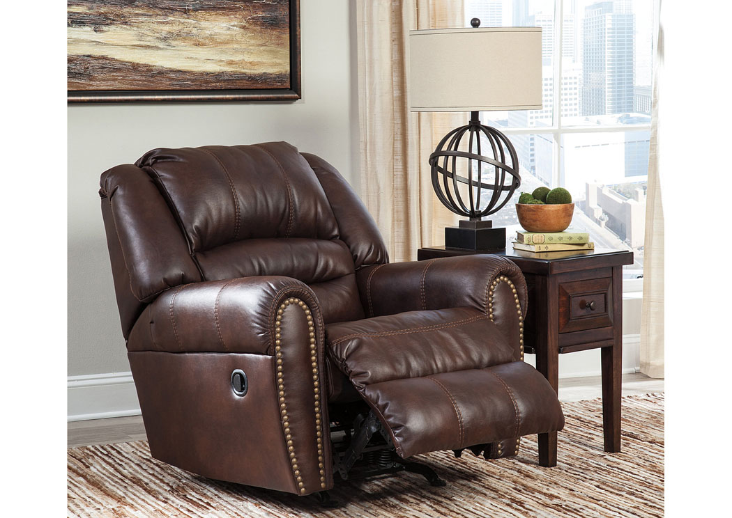 Manzanola Chocolate Rocker Recliner,Signature Design By Ashley