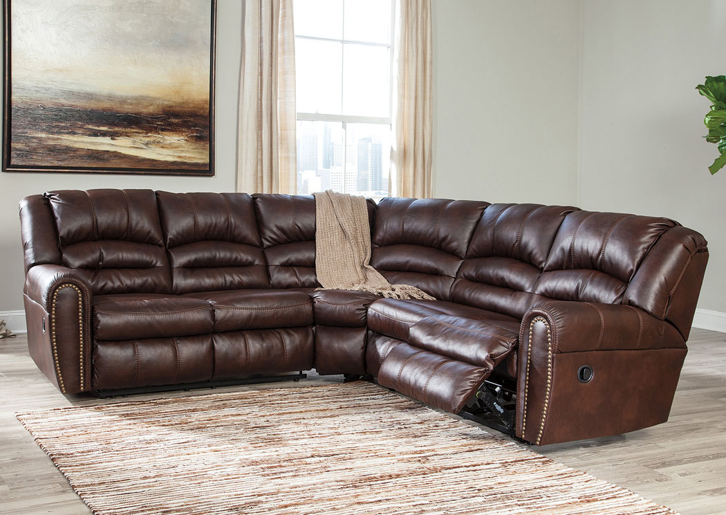 Manzanola Chocolate Reclining Sectional,Signature Design By Ashley