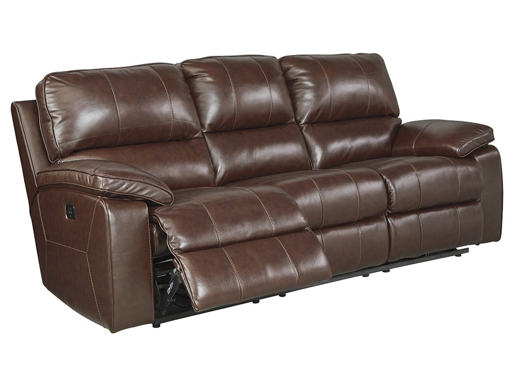 Transister Coffee Power Reclining Sofa w/Adjustable Headrest,ABF Signature Design by Ashley