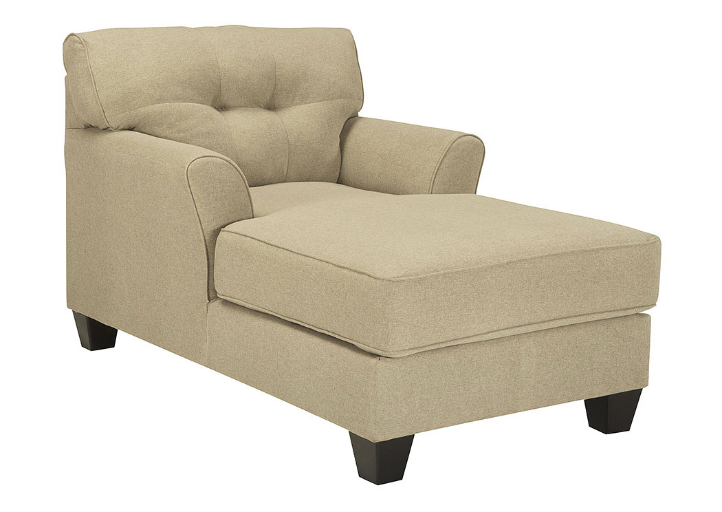The furniture shop duncanville tx laryn khaki chaise for Benchcraft chaise lounge