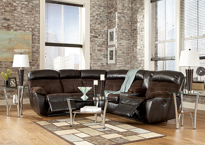 Berneen Coffee Reclining Sectional,Signature Design By Ashley