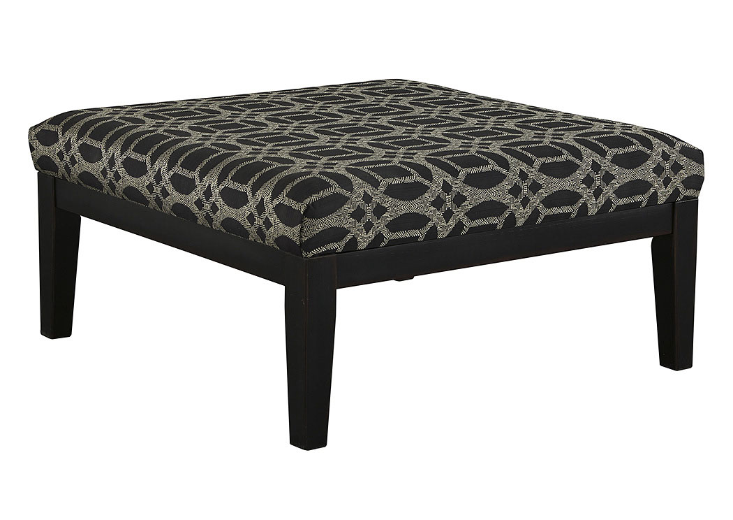 Cresson Pewter Oversized Accent Ottoman,Benchcraft