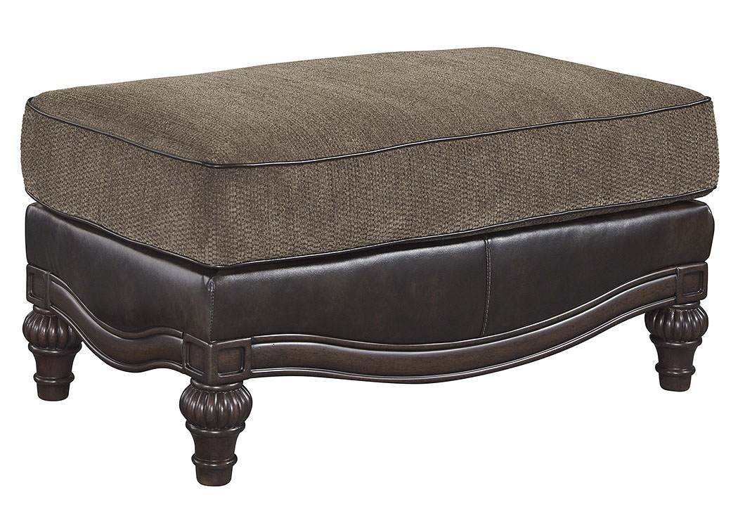 Winnsboro DuraBlend Vintage Ottoman,Signature Design By Ashley
