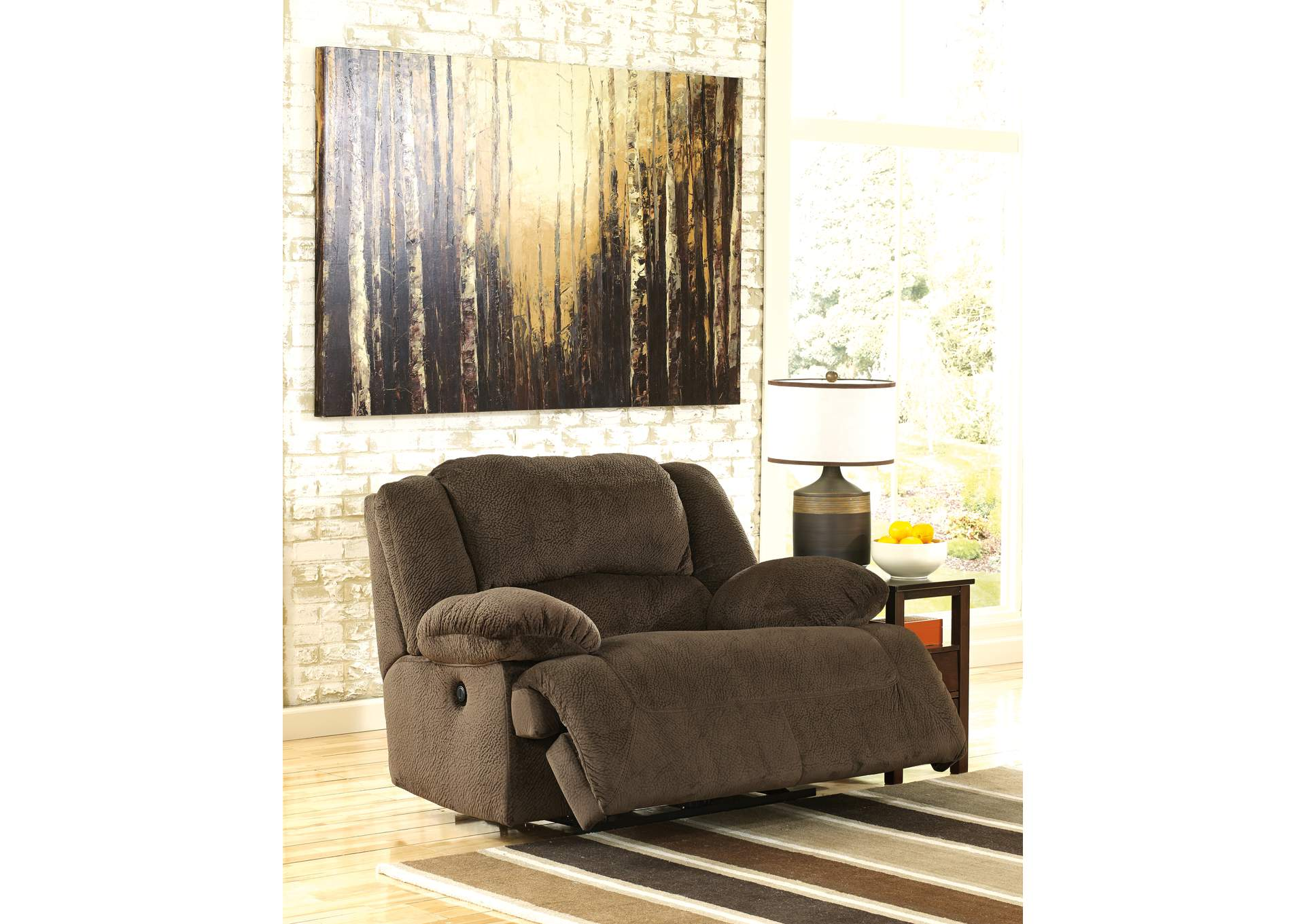 Toletta Chocolate Zero Wall Power Wide Seat Recliner,Signature Design By Ashley