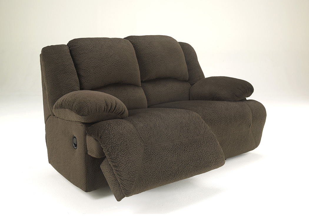Nice Toletta Chocolate Reclining Loveseat