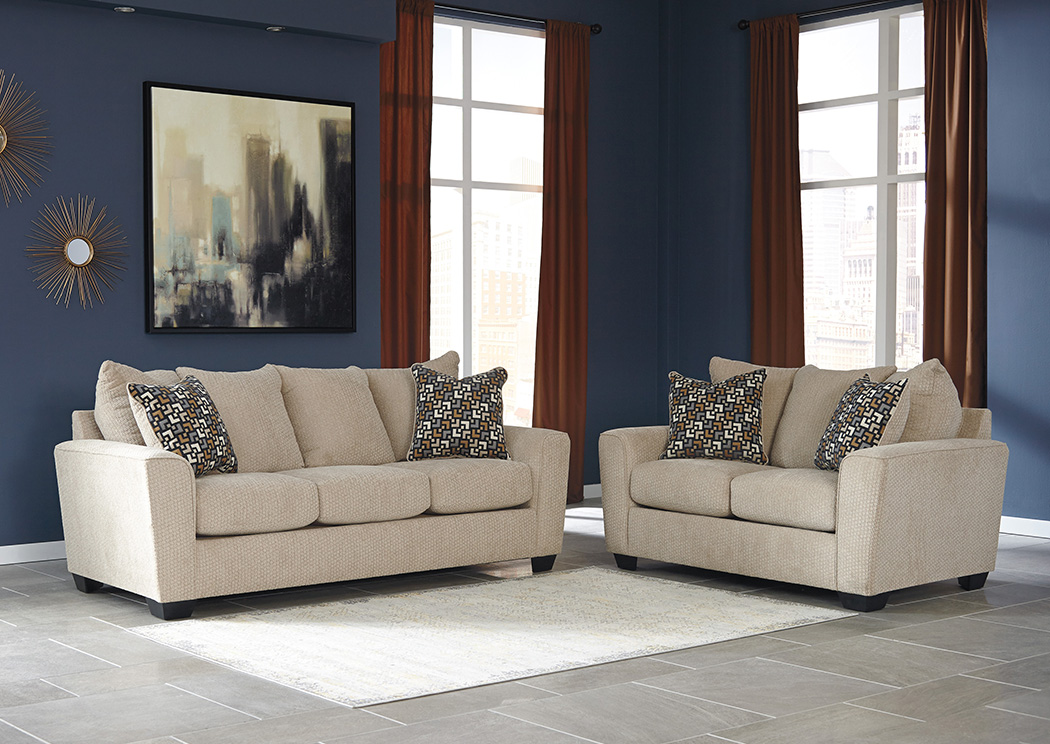 Wixon Putty Sofa and Loveseat,Benchcraft