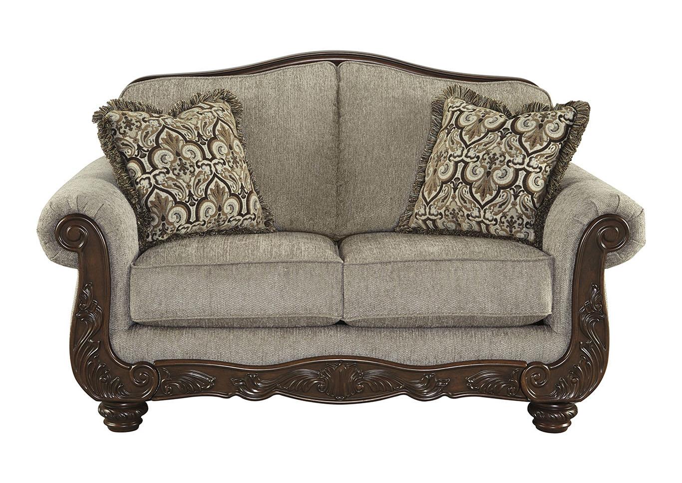Majek Furniture Cecilyn Cocoa Loveseat