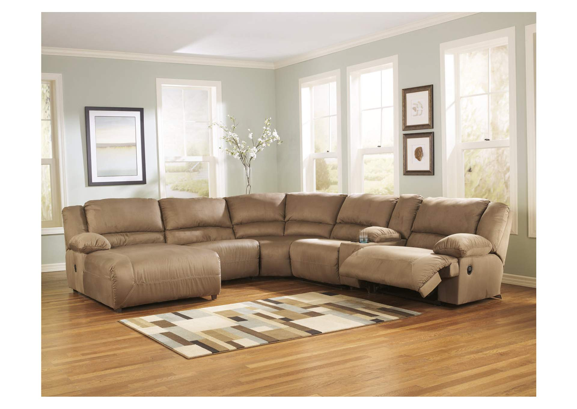 Hogan Mocha Left Facing Chaise Sectional,Signature Design by Ashley