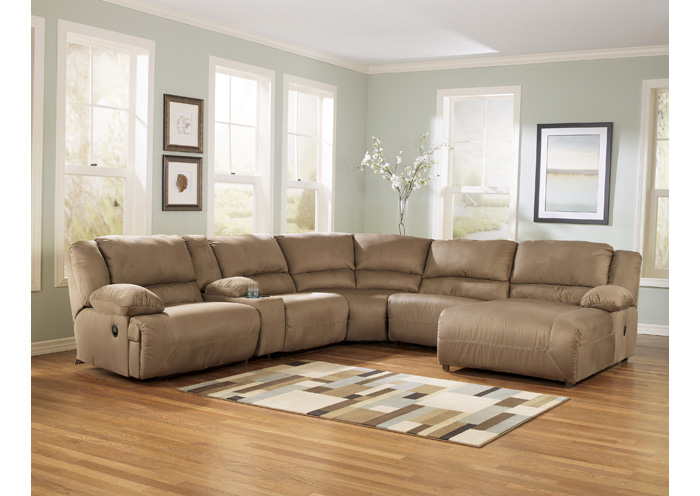 Hogan Mocha Right Facing Chaise Sectional,Signature Design By Ashley