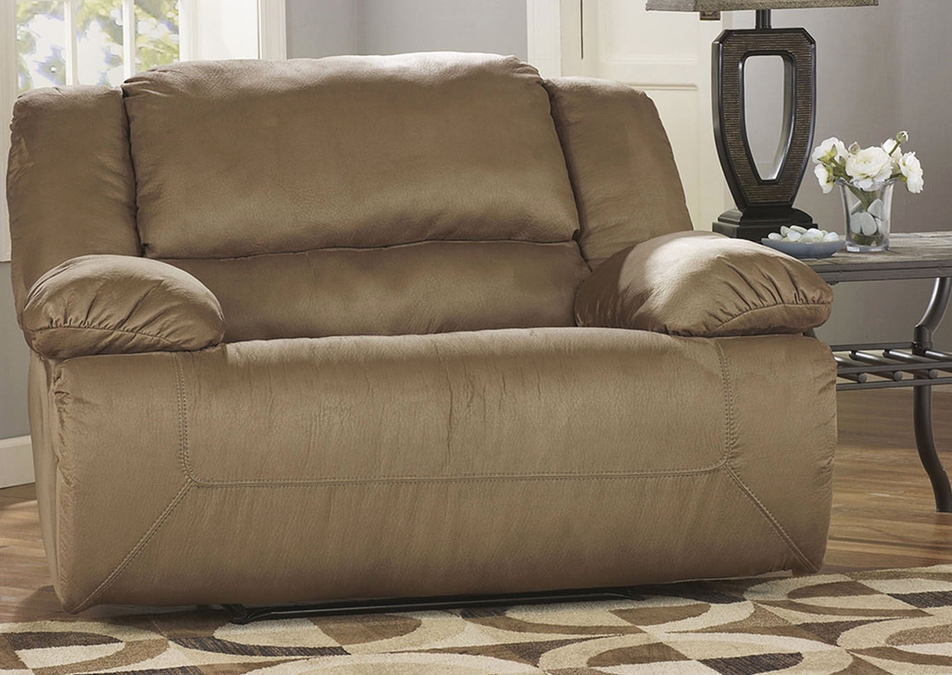 Hogan Mocha Zero Wall Wide Seat Recliner,Signature Design By Ashley