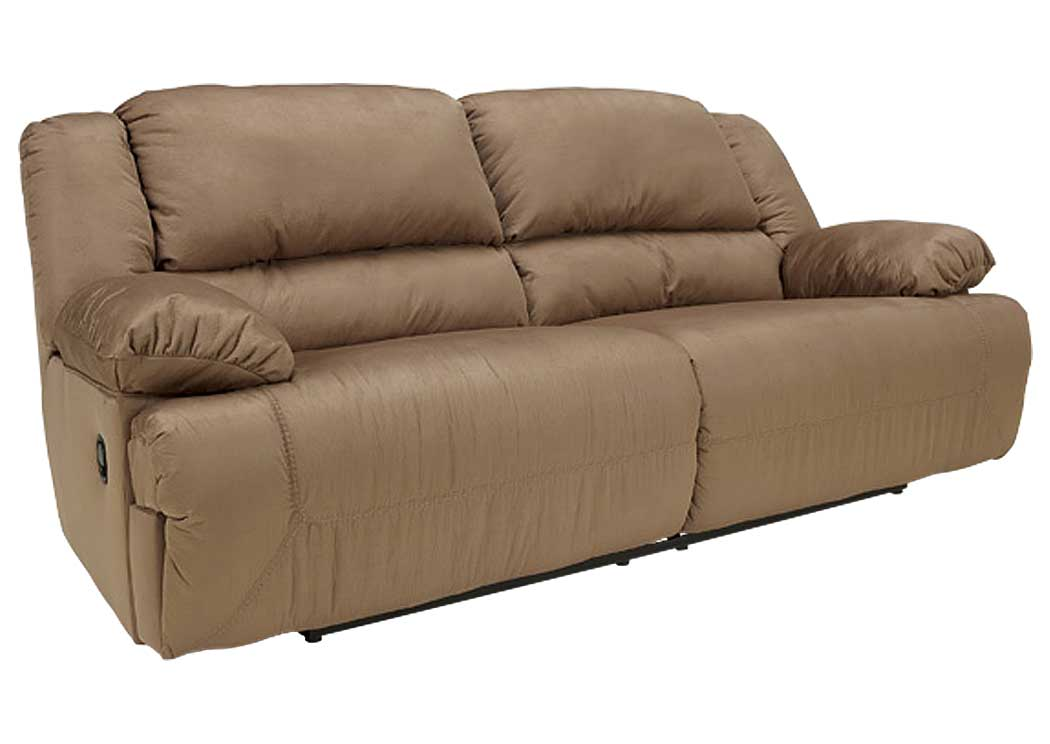 Hogan Mocha Reclining Two Seat Sofa,Signature Design By Ashley
