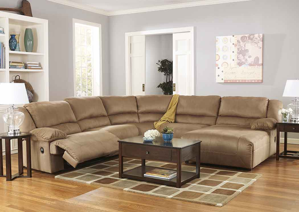 Carrolls Furniture - Pensacola, FL Hogan Mocha Reclining Sectional on florida backyard deck, florida backyard pools, florida backyard landscaping ideas,
