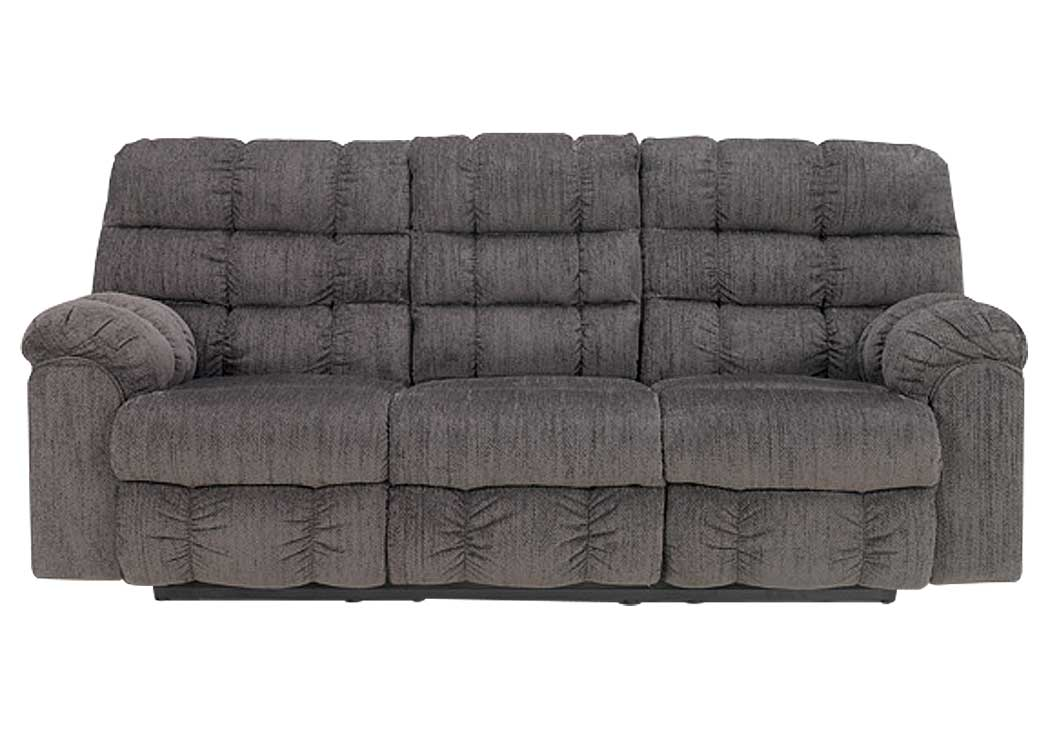 American furniture design acieona slate reclining sofa w for Sectional sofa with drop down table