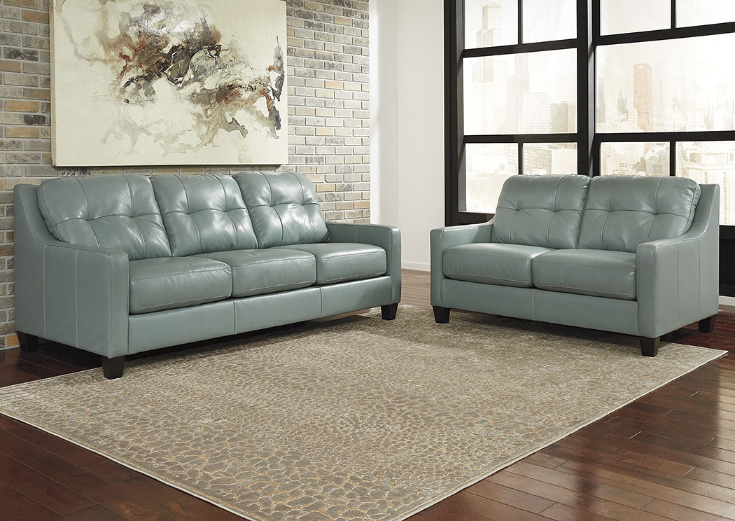 O'Kean Sky Sofa and Loveseat,Signature Design by Ashley