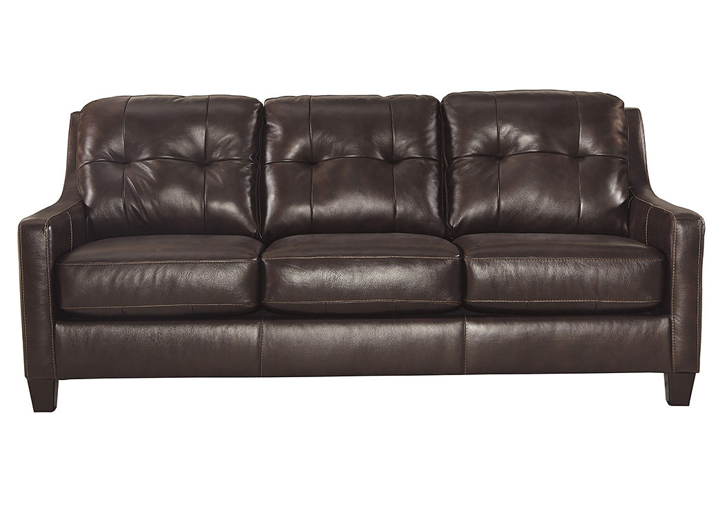 O'Kean Mahogany Sofa,Signature Design by Ashley