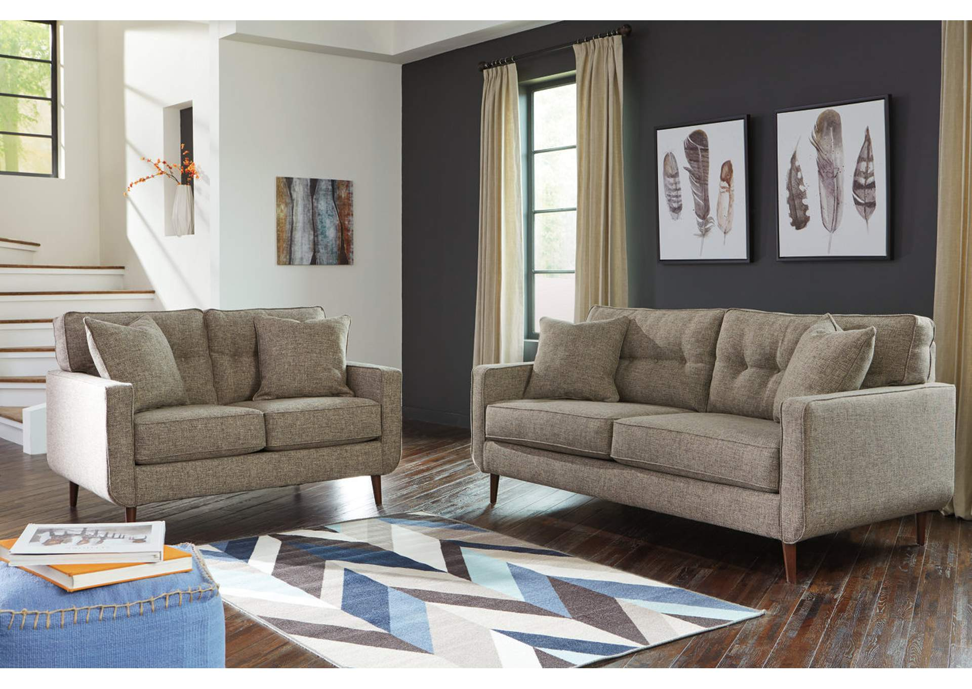 Dahra Jute Sofa and Loveseat,Benchcraft