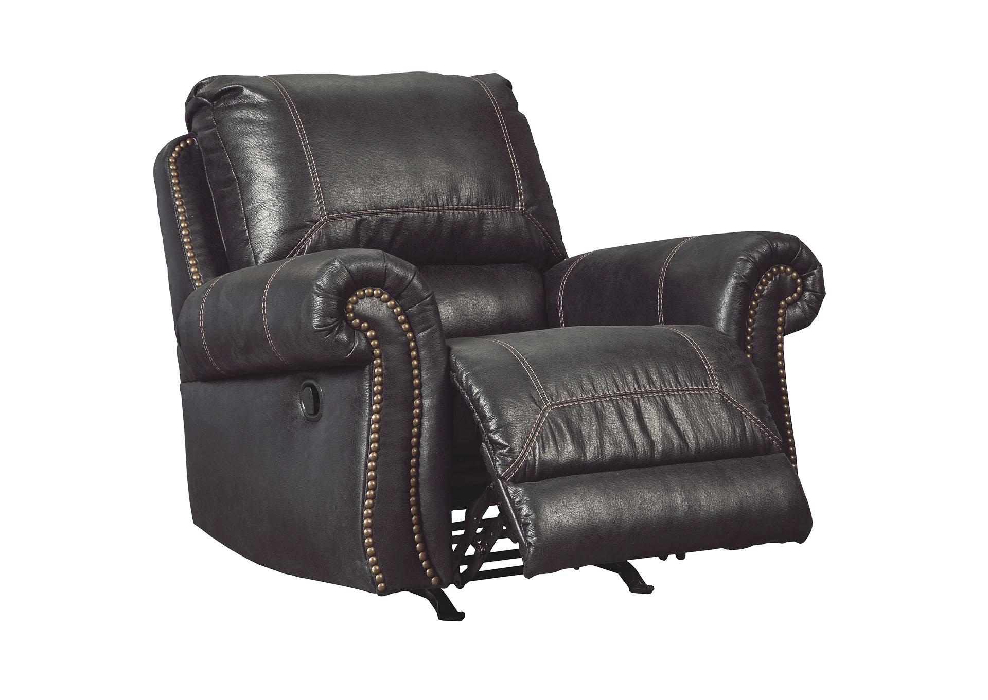 Muranou0026#39;s Furniture : Staten Island, NY Milhaven Black Rocker Recliner
