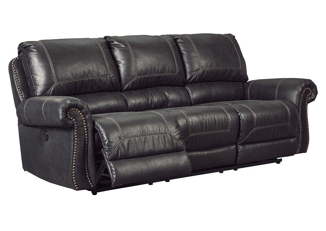 Milhaven Black Reclining Power Sofa,Signature Design By Ashley