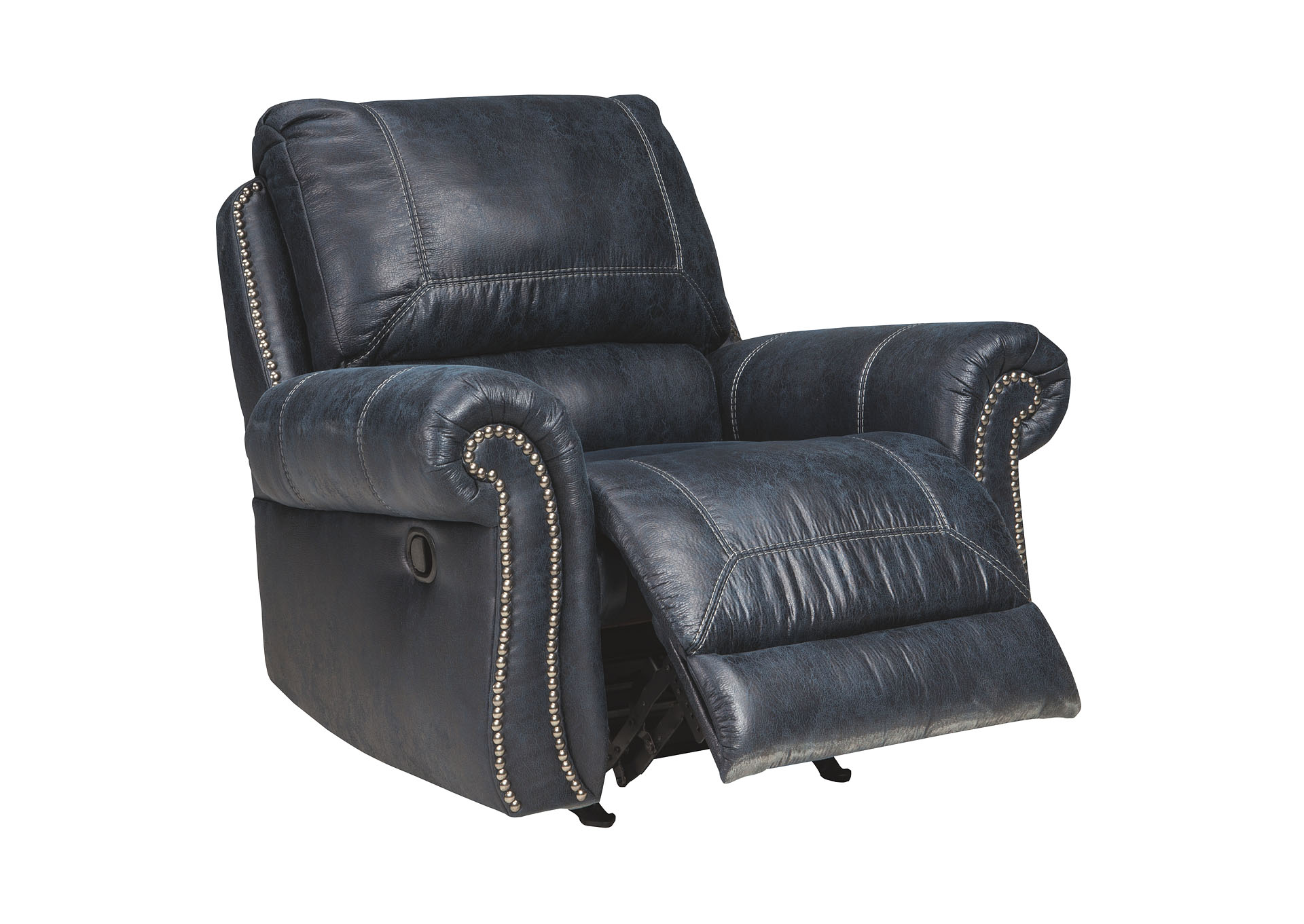 Milhaven Navy Rocker Recliner,Signature Design by Ashley