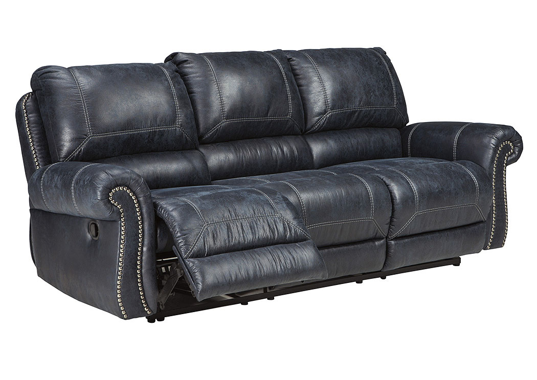 Milhaven Navy Reclining Sofa,Signature Design By Ashley