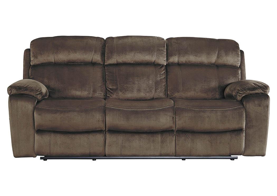 Good Uhland Chocolate Power Reclining Sofa W/Adjustable Headrest,Signature  Design By Ashley