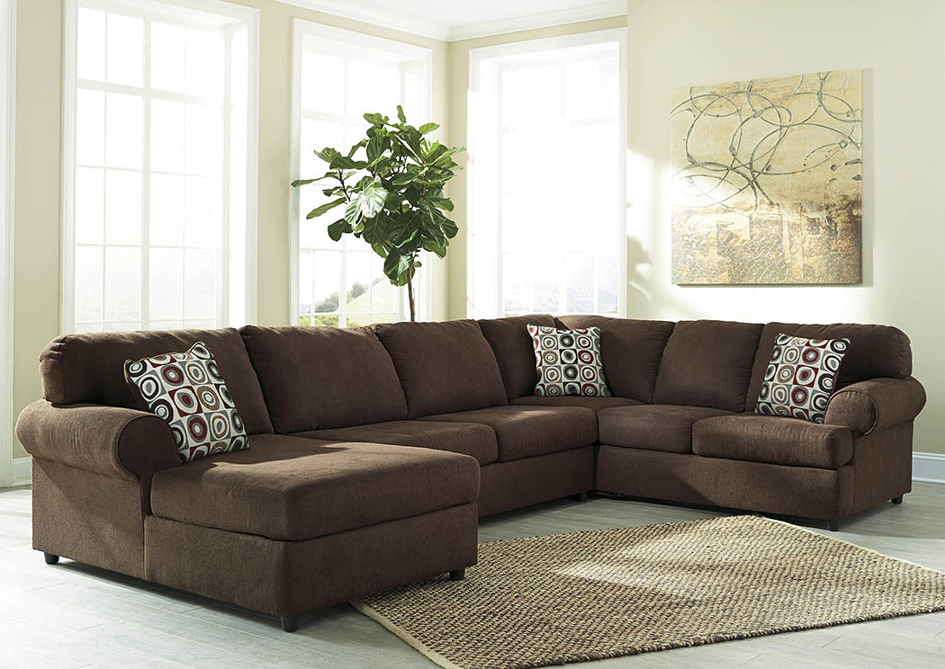 Jayceon Java Extended Left Facing Chaise End Sectional,Signature Design By Ashley